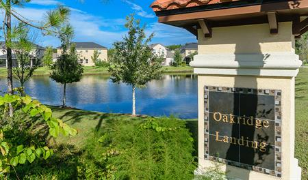 Entrance to the Oakridge Landing community in Jacksonville
