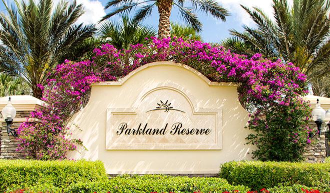 Parkland Reserve - Entrance