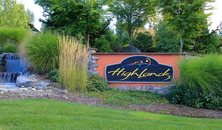 Puyallup Highlands - Entrance