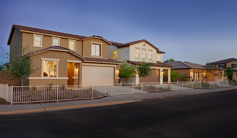 New model homes at Rogers Ranch in Phoenix