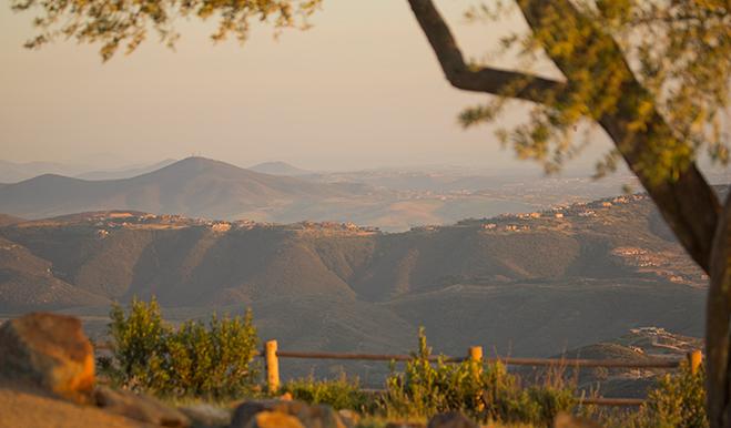 Mountain view at The Summit at San Elijo Hills near San Diego