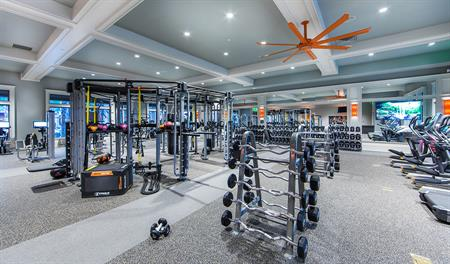 Community fitness center at Shearwater in Jacksonville