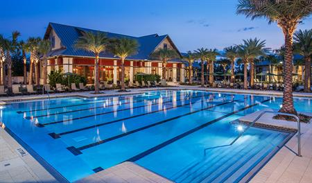 Community lap pool at Shearwater in Jacksonville
