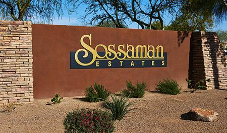 Entrance to the Sossaman Estates community in Phoenix