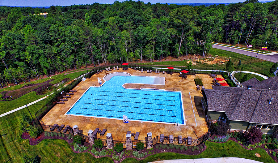 Community pool at Tanyard Cove Townes in Baltimore