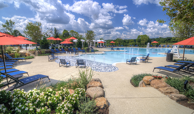 Community pool in the Willowsford community in Northern Virginia