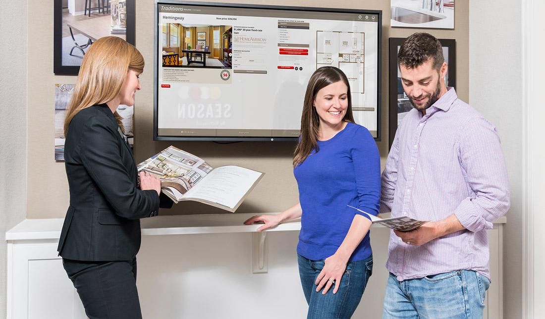 Sales Center Touchscreen