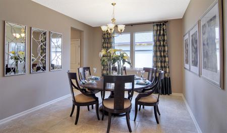 Dining room in the Alan floor plan