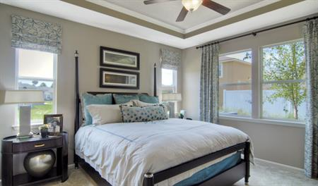 Master bedroom in the Alan floor plan