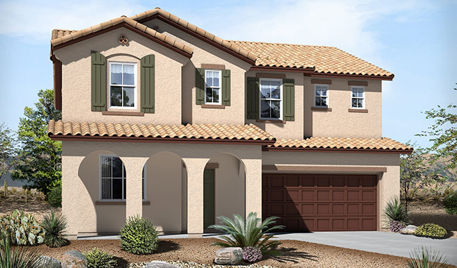 Exterior A of the Alison floor plan in the Skyline Ridge community