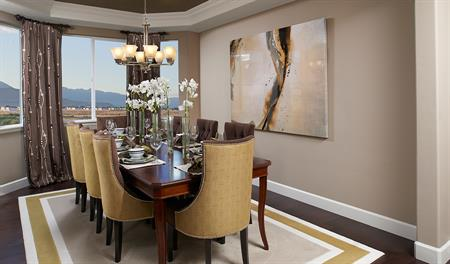 Dining room in the Amber floor plan
