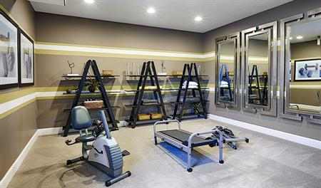 Exercise room in the Amber floor plan