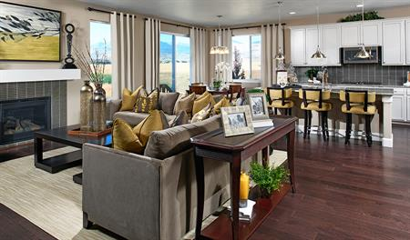 Great room in the Amber floor plan