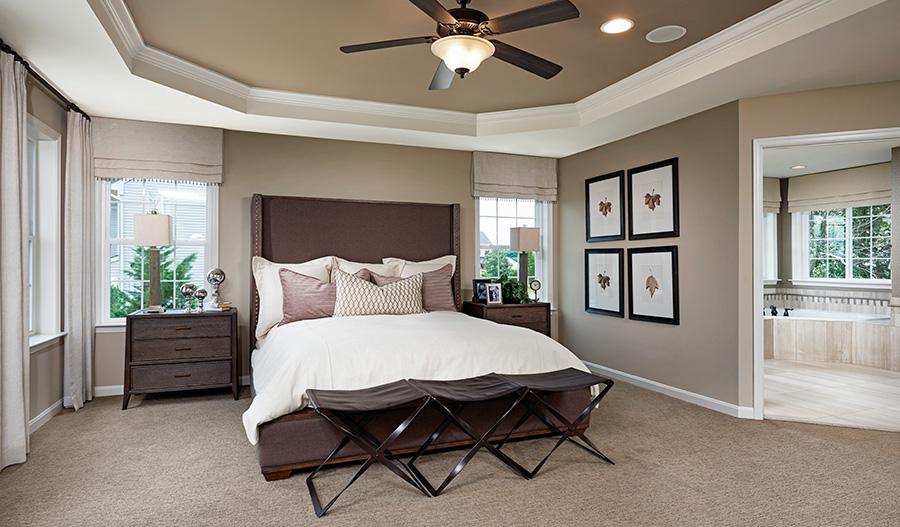 Master bedroom in the Amherst floor plan