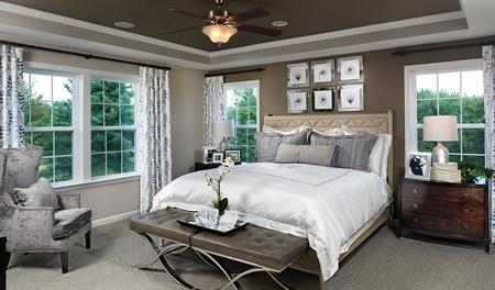 Master bedroom of the Amy floor plan