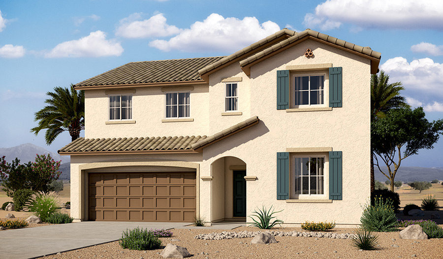 Exterior A of the Andrea floor plan in the River Grove South community