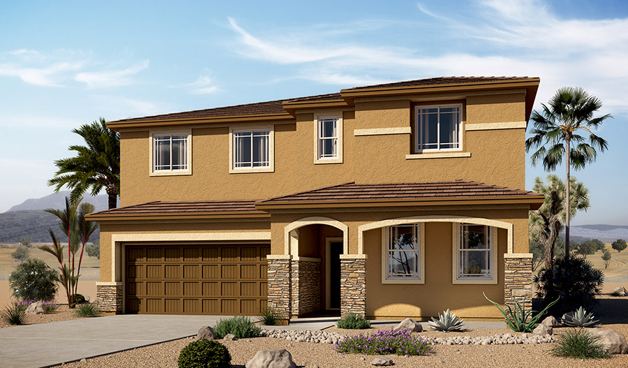 Exterior C of the Andrea floor plan in the River Grove South community