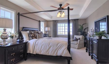 Master bedroom of the Andrew floor plan