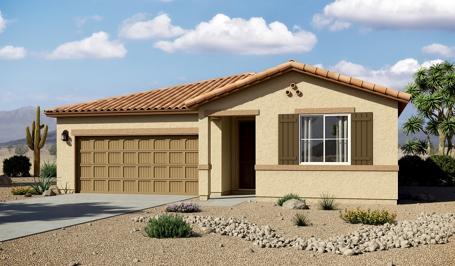 Exterior A of the Arlington floor plan in the Willow Vista community