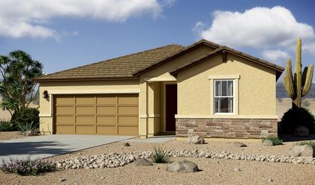 Exterior B of the Arlington floor plan in the Willow Vista community