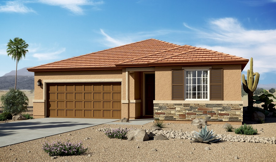 Exterior C of the Arlington floor plan in the Willow Vista community