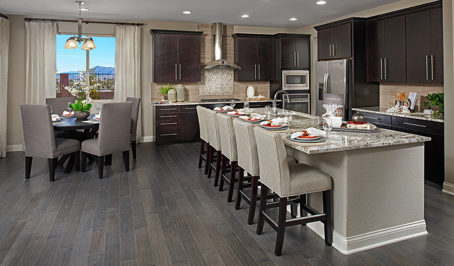 Kitchen with large center island in the Avalon floor plan