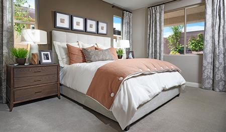 Master bedroom in the Avalon plan