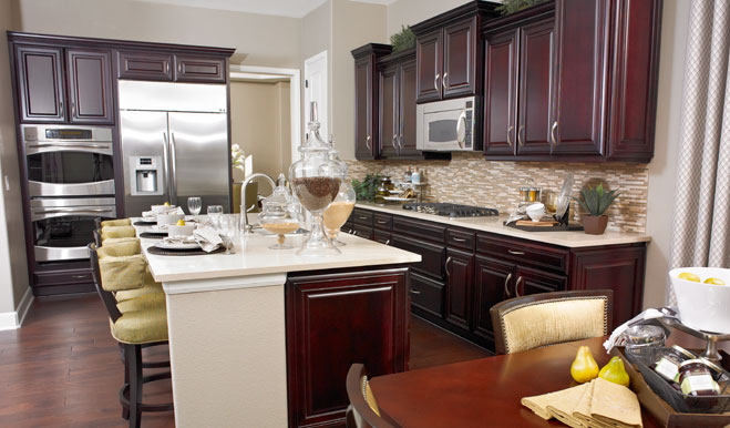 Kitchen in the Avery floor plan