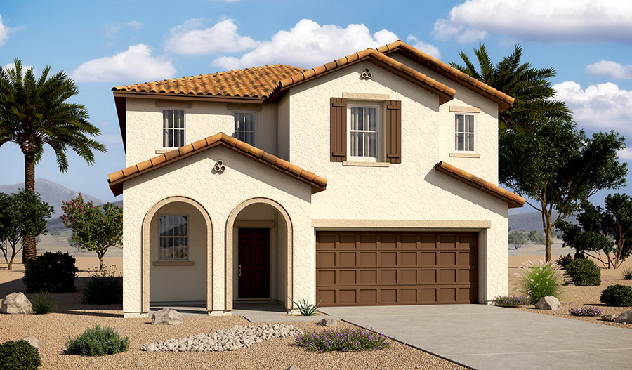Exterior A of the Barry floor plan in the Tenaya Highlands community