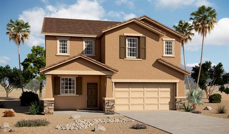 Exterior B of the Barry floor plan in the Tenaya Highlands community