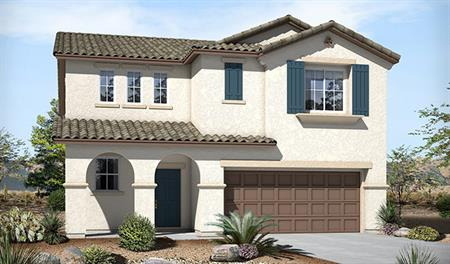 Exterior A of the Belle floor plan in the Skyline Ridge community