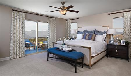 Master bedroom in the Bethany floor plan