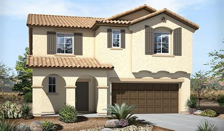 Exterior A of the Bethany floor plan in the Skyline Ridge community