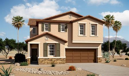 Exterior B of the Beverly floor plan in the Tenaya Highlands community