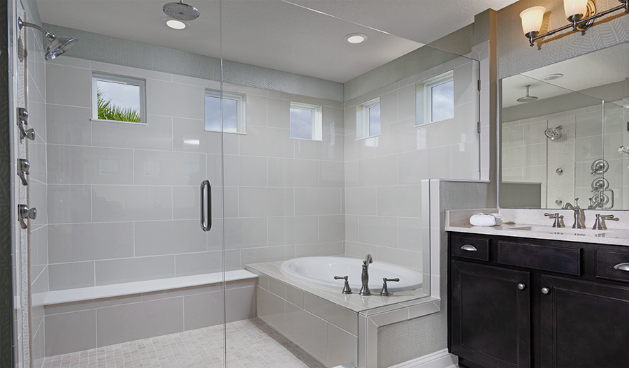 Master bathroom in the Bradford floor plan