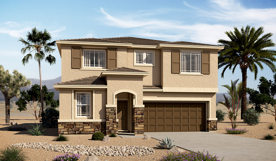 Exterior C of the Bradford floor plan in the Tenaya Highlands community