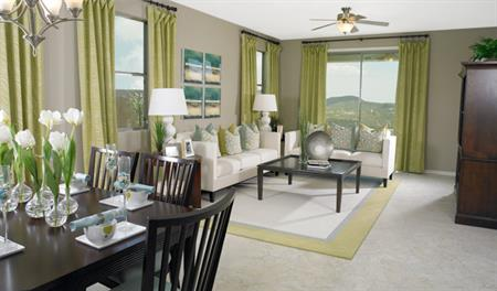Family room in the Brent floor plan