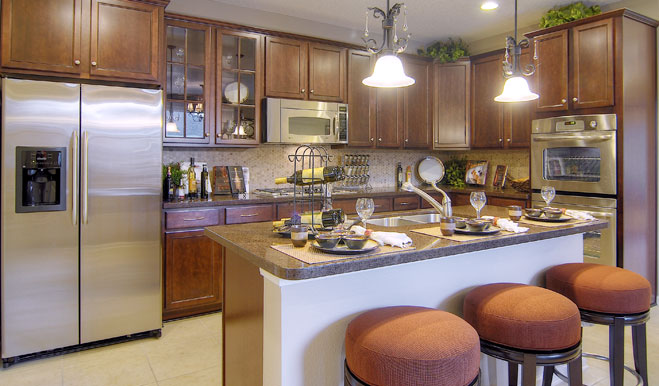 Kitchen in the Brian floor plan
