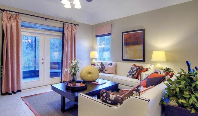 Living room in the Brian floor plan