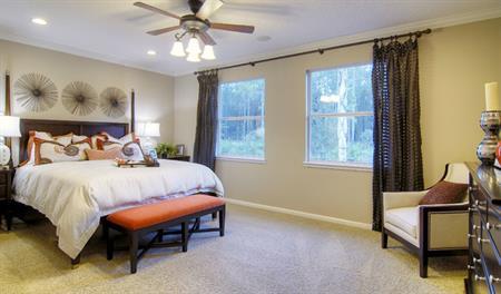 Master bedroom in the Brian floor plan