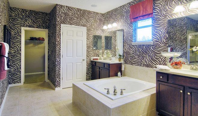 Master bathroom in the Brian floor plan