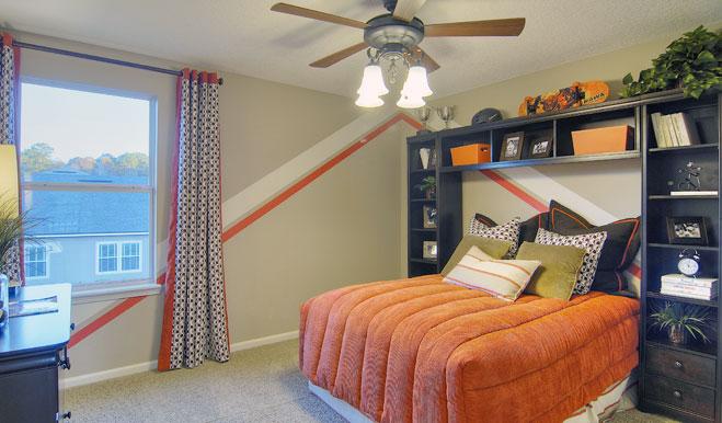 Teen bedroom in the Brian floor plan