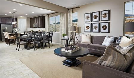 Great room in the Bronson floor plan