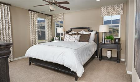 Master bedroom in the Bronson floor plan