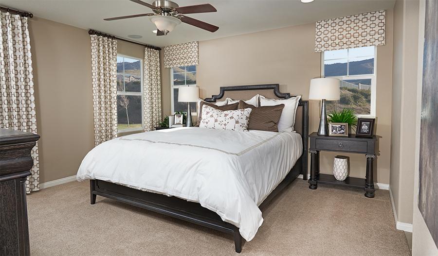 Master bedroom in the Bronson floor plan