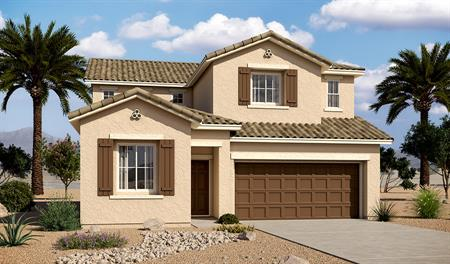 Exterior A of the Bronson floor plan in the Tenaya Highlands community