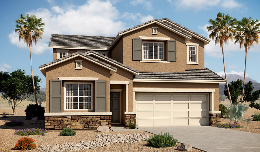 Exterior B of the Bronson floor plan in the Tenaya Highlands community
