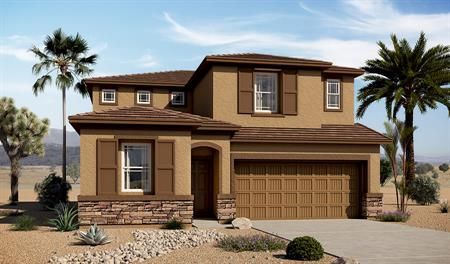 Exterior C of the Bronson floor plan in the Tenaya Highlands community