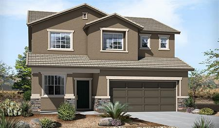 Exterior B of the Burton floor plan in the Skyline Ridge community