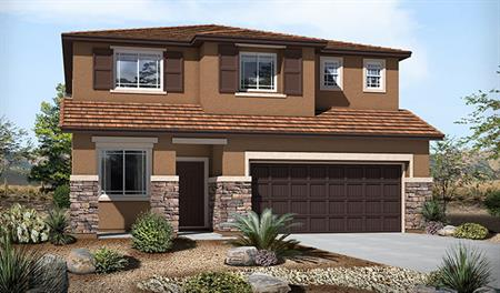 Exterior C of the Burton floor plan in the Skyline Ridge community